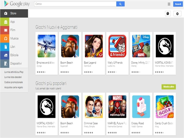Come installare manualmente Google Play Store su tablet non compatibili