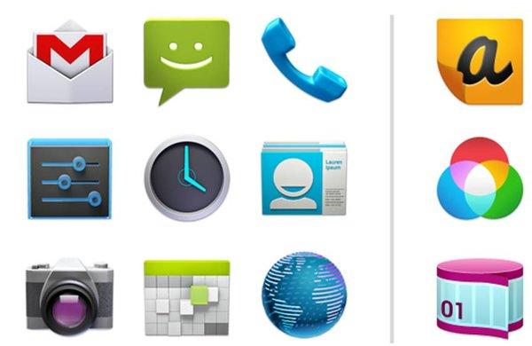 Contatti icone Android