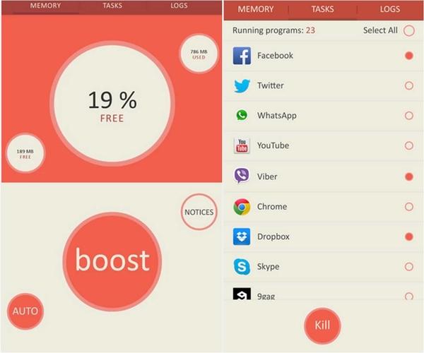 Memory Booster – RAM Optimizer app Android prestazioni telefono