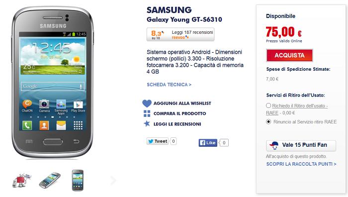 Samsung Galaxy Young: caratteristiche, migliori prezzi e specifiche ...