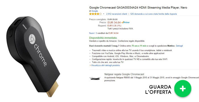 google-chromecast-offerte-elettronica-maggio2015