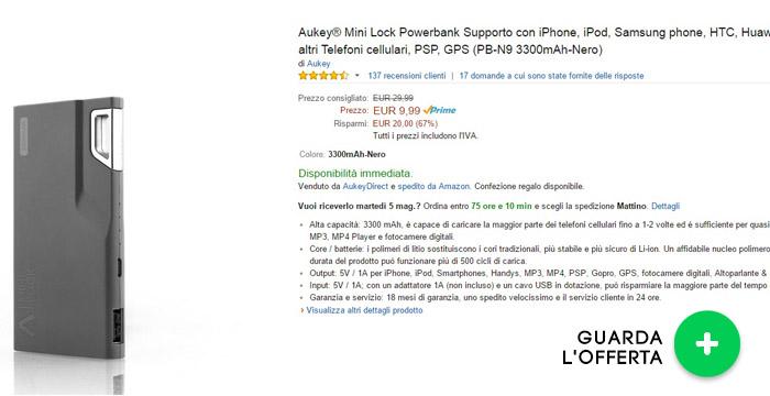 power-bank-aukey-mini-3300mah-offerte-elettronica-maggio2015