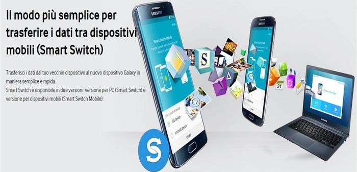 Come collegare smartphone Samsung al computer Smart Switch