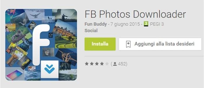 Come salvare album foto Facebook su Android FB Photos Downloader