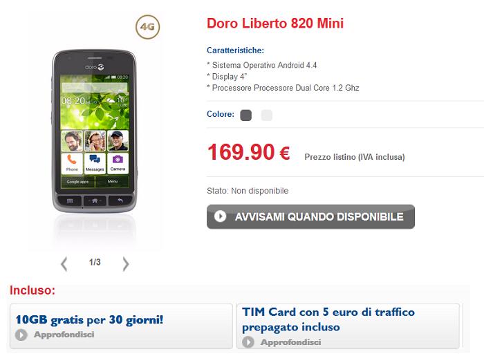 Doro-Liberto-820-Mini-caratteristiche,-specifiche-tecniche-e-offerte-operatori-3