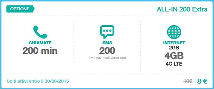 Opzione-Tre-All-IN-200-Extra-Giugno-2015-200-minuti,-200-SMS,-4-GB-di-Internet-in-LTE-4