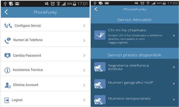 PhoneFunky avviso di chiamata come si attiva gratis su Android