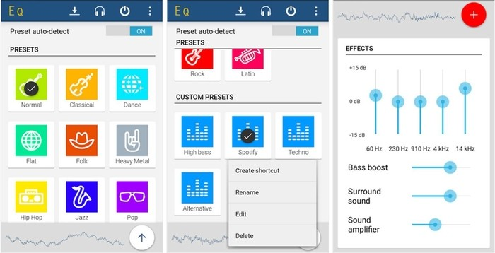 come amplificare volume Android Equalizer