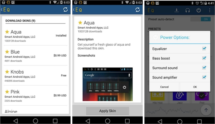 come amplificare volume Android con Equalizer