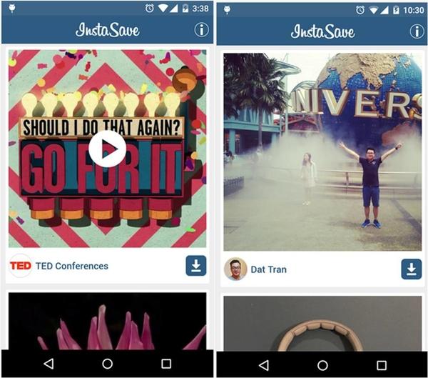 Come scaricare foto da Instagram su Android InstaSave