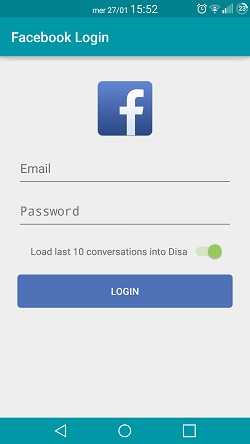 Login Facebook Messenger.