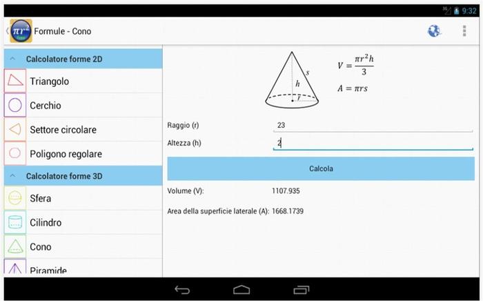 Formule Free applicazioni Android matematica