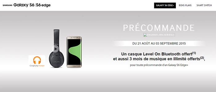 Preordini Samsung Galaxy S6 Edge+