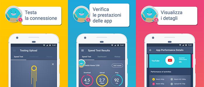 Speed test gratis velocità connessione Internet Meteor Speed test applicazioni