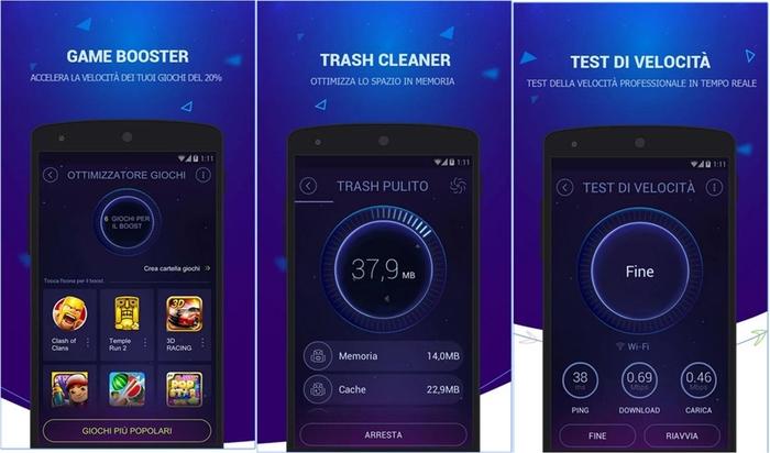 velocità su Android e pulizia DU Speed Booster