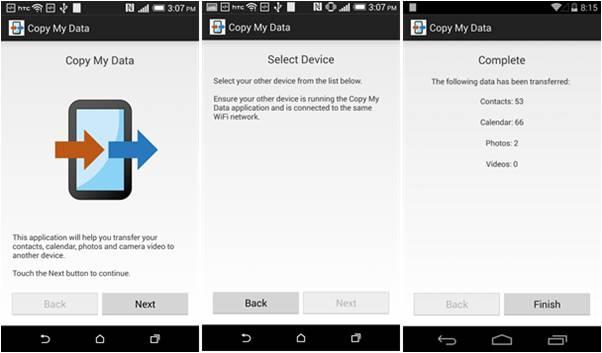 Come passare contatti da Android ad iPhone Copy My Data
