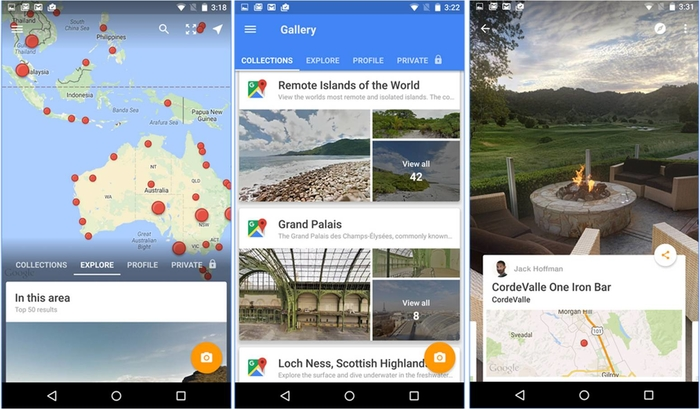 Google Street View su Android