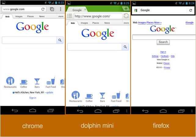 Google pagina iniziale Android