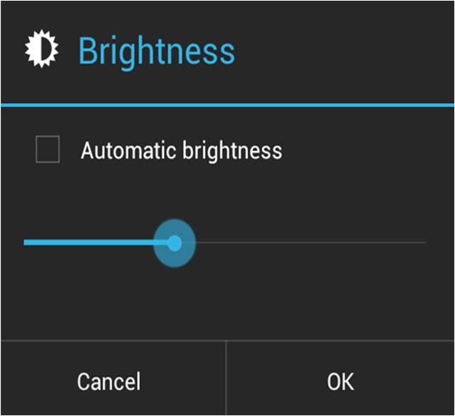 come ridurre la luminosità dello schermo Android