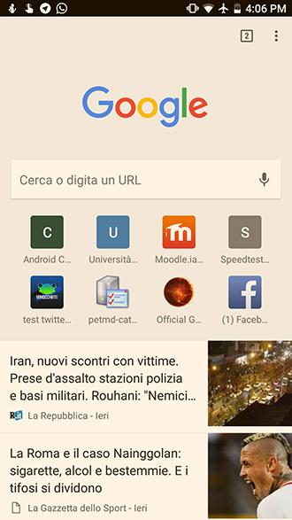 Come impostare Google come pagina iniziale su Android