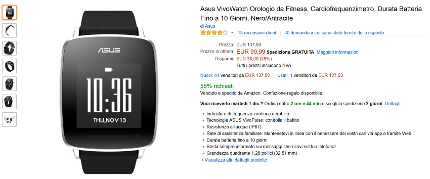 Amazon,-Black-Friday-Asus-VivoWatch-in-offerta-a-meno-di-€-100-2
