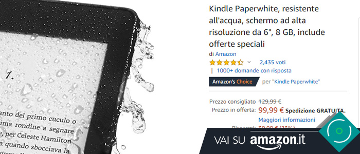 Kindle Paperwhite in offerta Black Friday