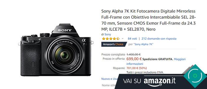 Sony Alpha 7K in offerta Black Friday