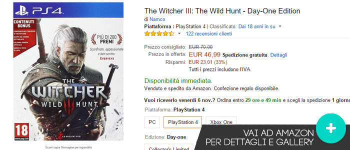 Offerte-THe-Witcher-III-The-Wild-Hunt-Amazon-gaming-weeks