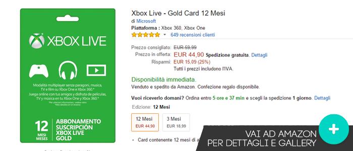 Offerte-Xbox-Live-Abbonamento-Amazon-gaming-weeks