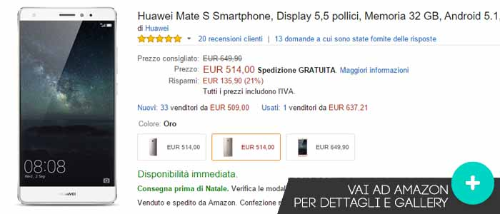 Prezzo Motorola Moto X Play su Amazon.