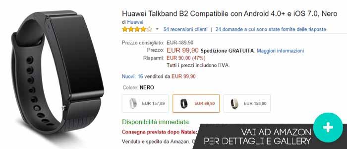 Prezzo Huawei Talkband B2 su Amazon.