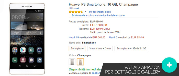 Offerte-Amazon-Huawei-P8