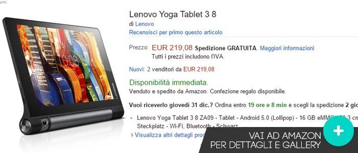 Prezzo Lenovo Yoga Tablet 3, 8.0'' su Amazon.