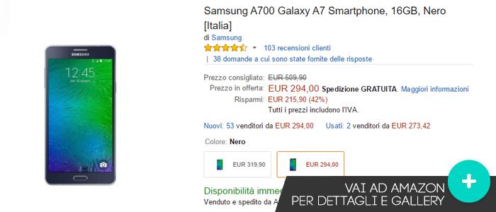 Miglior prezzo Amazon per Samsung Galaxy A7