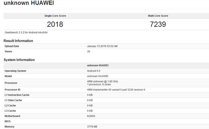 Huawei Kirin 950 versione potenziata