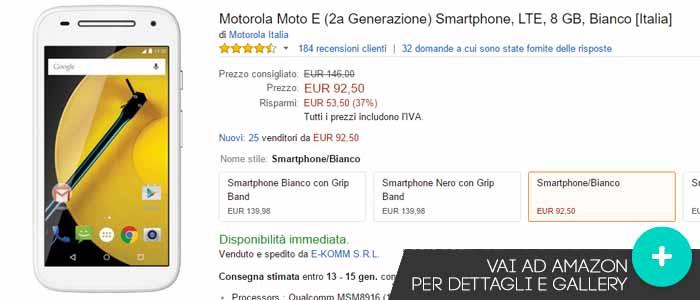 Prezzo Motorola Moto E su Amazon