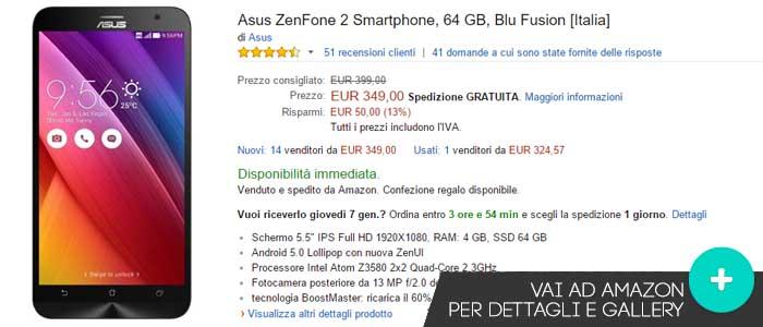 Prezzo Asus Zenfone 2 su Amazon