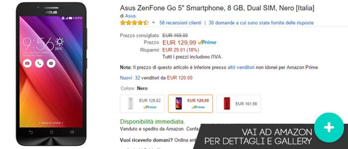 Prezzo Asus Zenfone Go su Amazon.