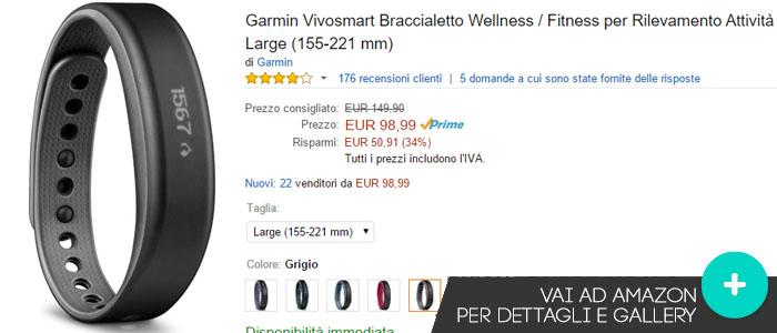 Prezzo Garmin Vivosmart su Amazon.