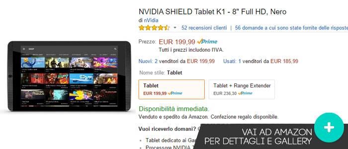 Prezzo NVIDIA Shield Tablet su Amazon.