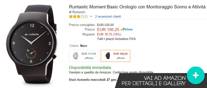 Prezzo Runtastic Moment su Amazon.