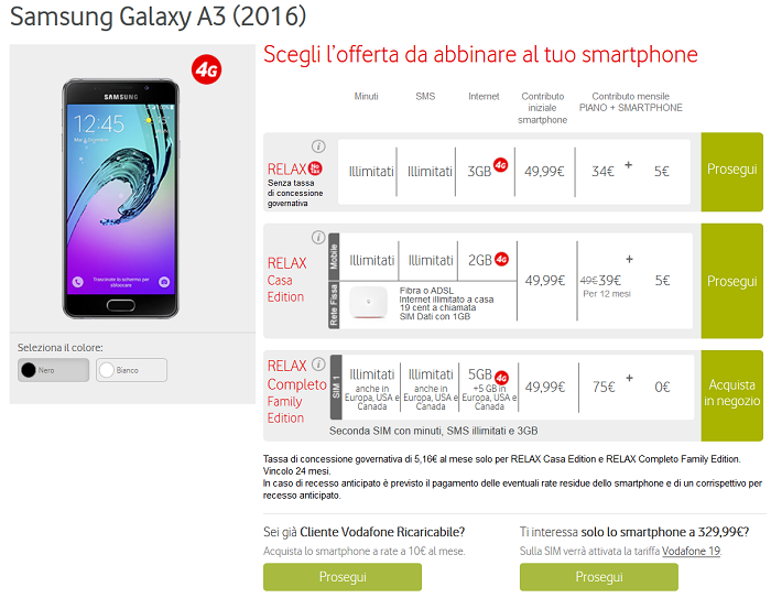 Samsung Galaxy A3 (2016): altre proposte offerte dagli operatori Tim ...
