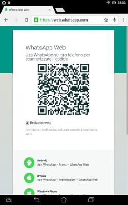 WhatsApp Web per spiare le conversazioni.