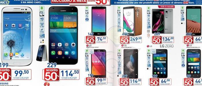 Offerte smartphone volantini Euronics.
