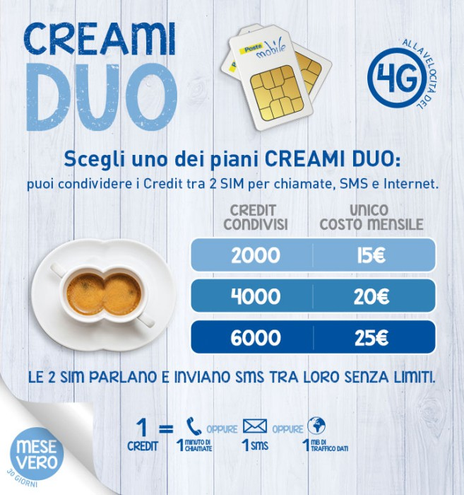 Offerta-Postemobile-Creami-Duo-condividi-i-crediti-con-un'altra-sim-1
