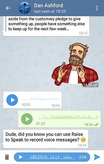messaggi vocali telegram