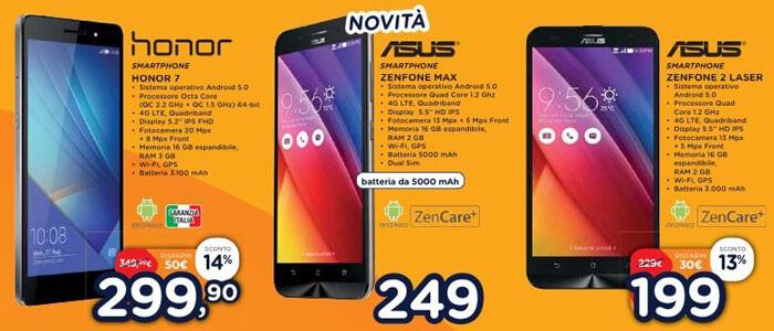 Offerte smartphone volantino online Unieuro.