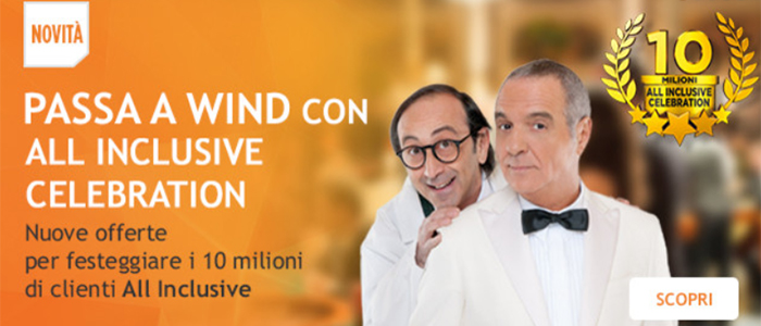 Passa a Wind con All Inclusive Celebration