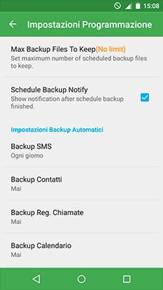 backup contatti Android