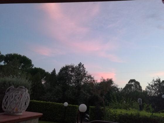 Foto scattata al tramonto